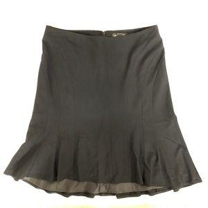 Lane Bryant Trumpet Skirt Hi Lo Ruffle Black 18
